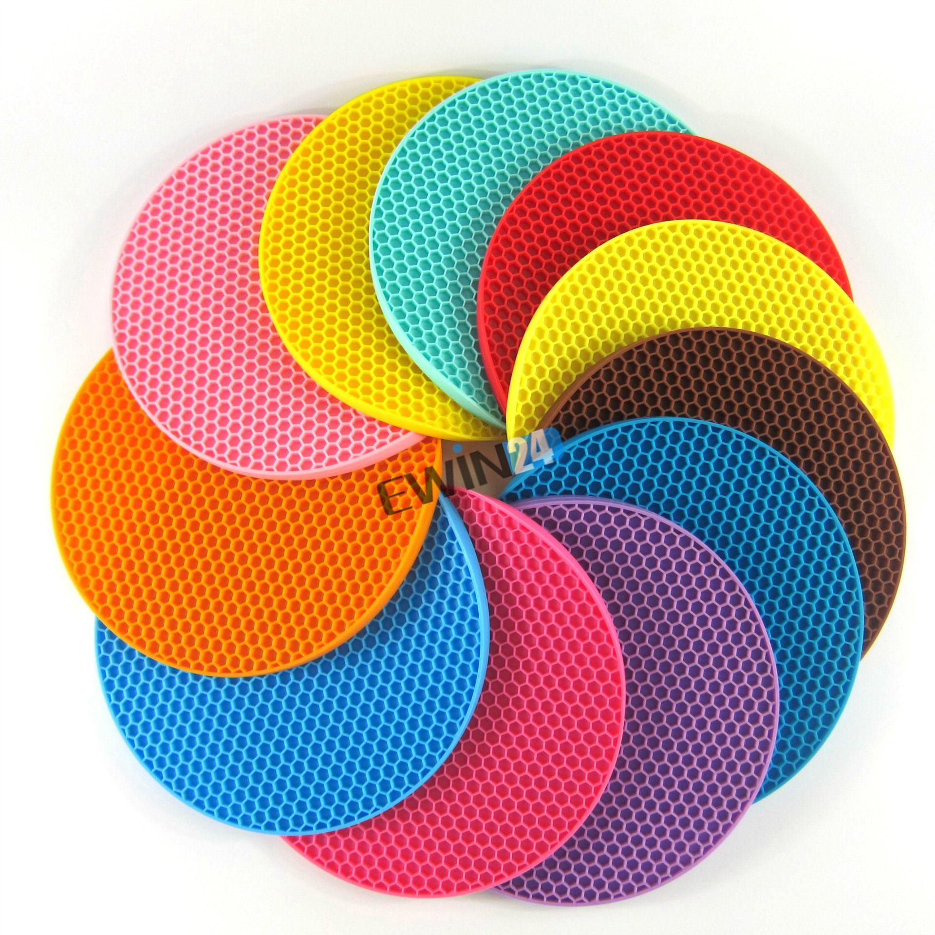 Rutschfestes hitzebeständiges Matten-Kissen für Topf Nahrungsmittelwasserdichtes Silikon sortierte Farben Neues Paket von