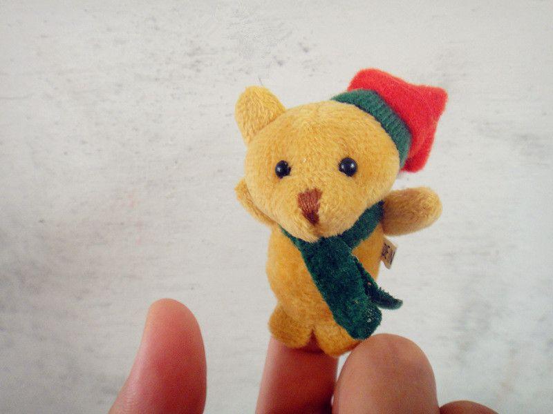 Christmas Finger Puppets Plush Toys cartoon Santa Claus Snowman Hand Puppet Christmas deer Stuffed Animals B11