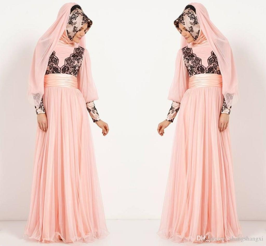 Ihram Kids For Sale Dubai: Pink Dubai Evening Dresses 2015 Latest Design Muslim