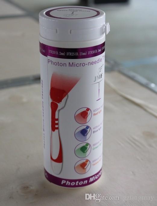 Großhandel - 1 Stück LED Derma Roller Edelstahl Microneedle 540 Nadeln Dermaroller
