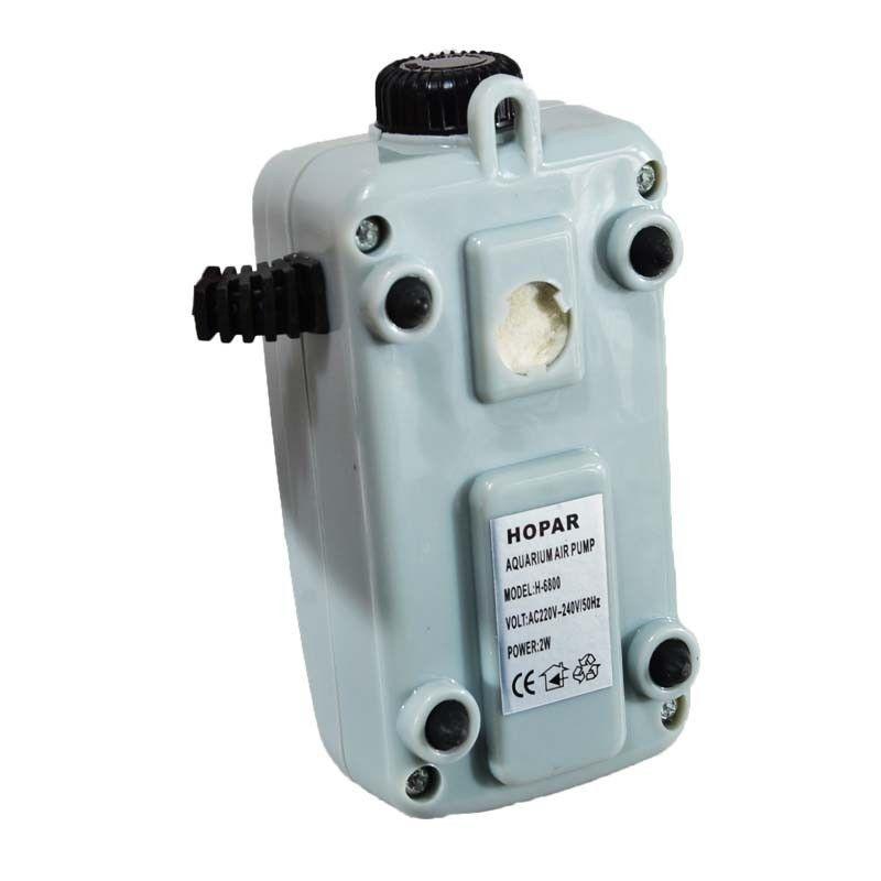 Super silencioso H-6900 2.5W 1.1L / Min Bomba de aire para acuario Tanque de peces Dos salidas de flujo de aire Ajuste de bomba de oxígeno hasta 100 galones