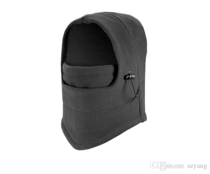 Winter Outdoor Thermal Warm 6 in 1 Balaclava Hood Police Swat Skiing Cap Fleece Ski Bike Scarf Wind Stopper Ski Mask Hats