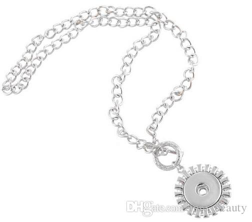 2015 nuova collana della collana di scatto della collana di dichiarazione del girasole Toggle di Toggle Fit Snap Button 47.5cm vendita calda