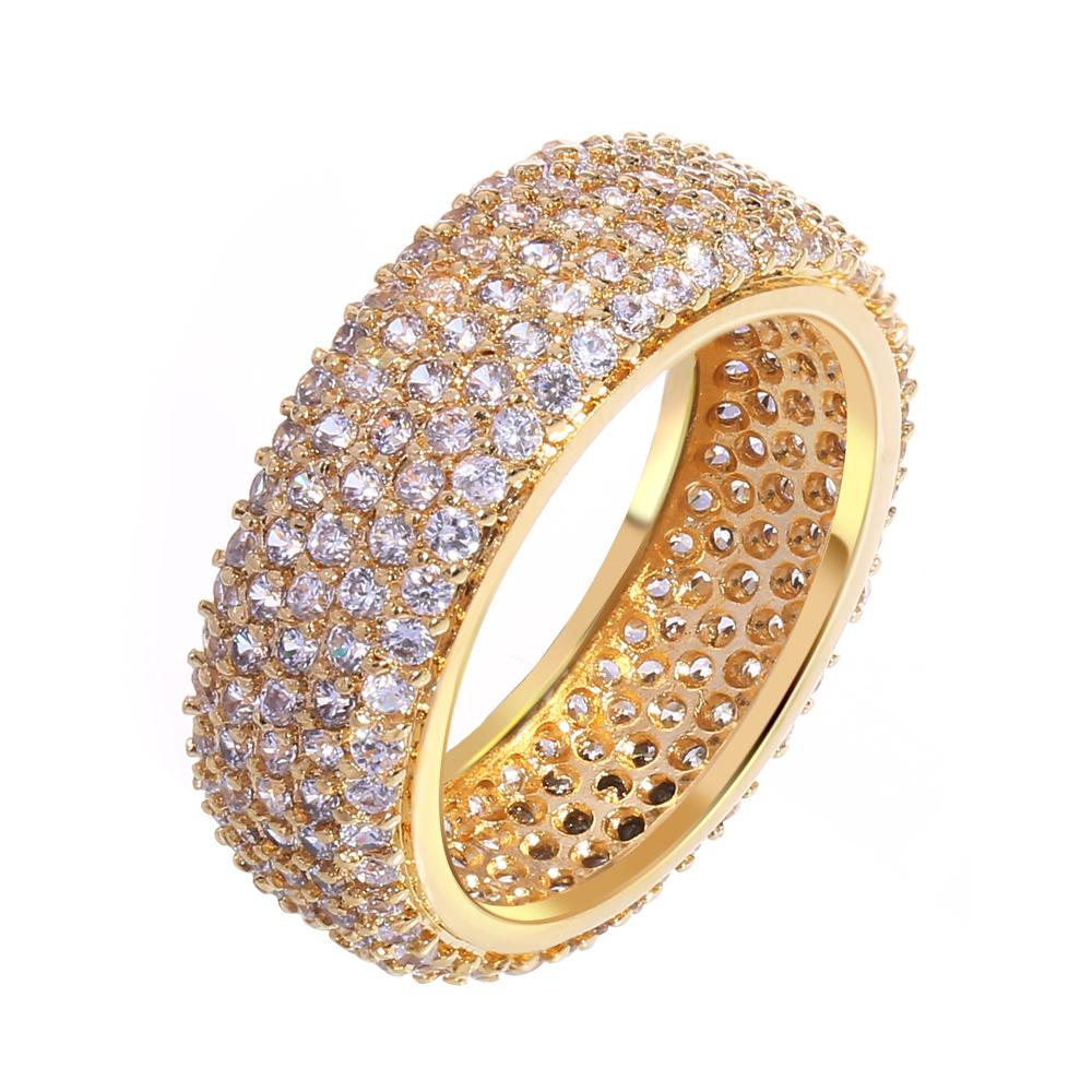 2018 Finger Rings Ladies Copper Ring Gold Plated With Cubic Zircon ...
