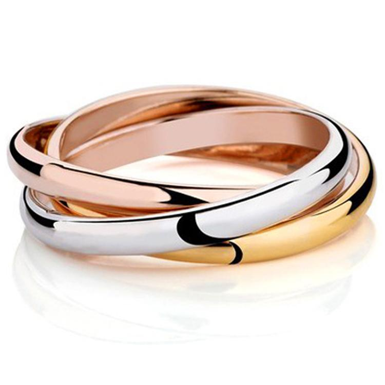 Anel 18k Gold Plated Brand Rings For Women Elegant Party Wedding