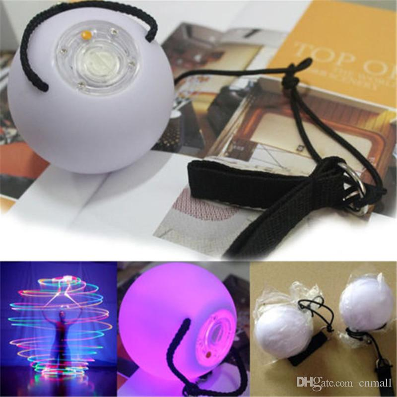 Multicolored Light LED POI Thrown Balls Diameter 8cm for Stage Performance Belly Dance Special Hand Props LED Stage Show Props Party Supply