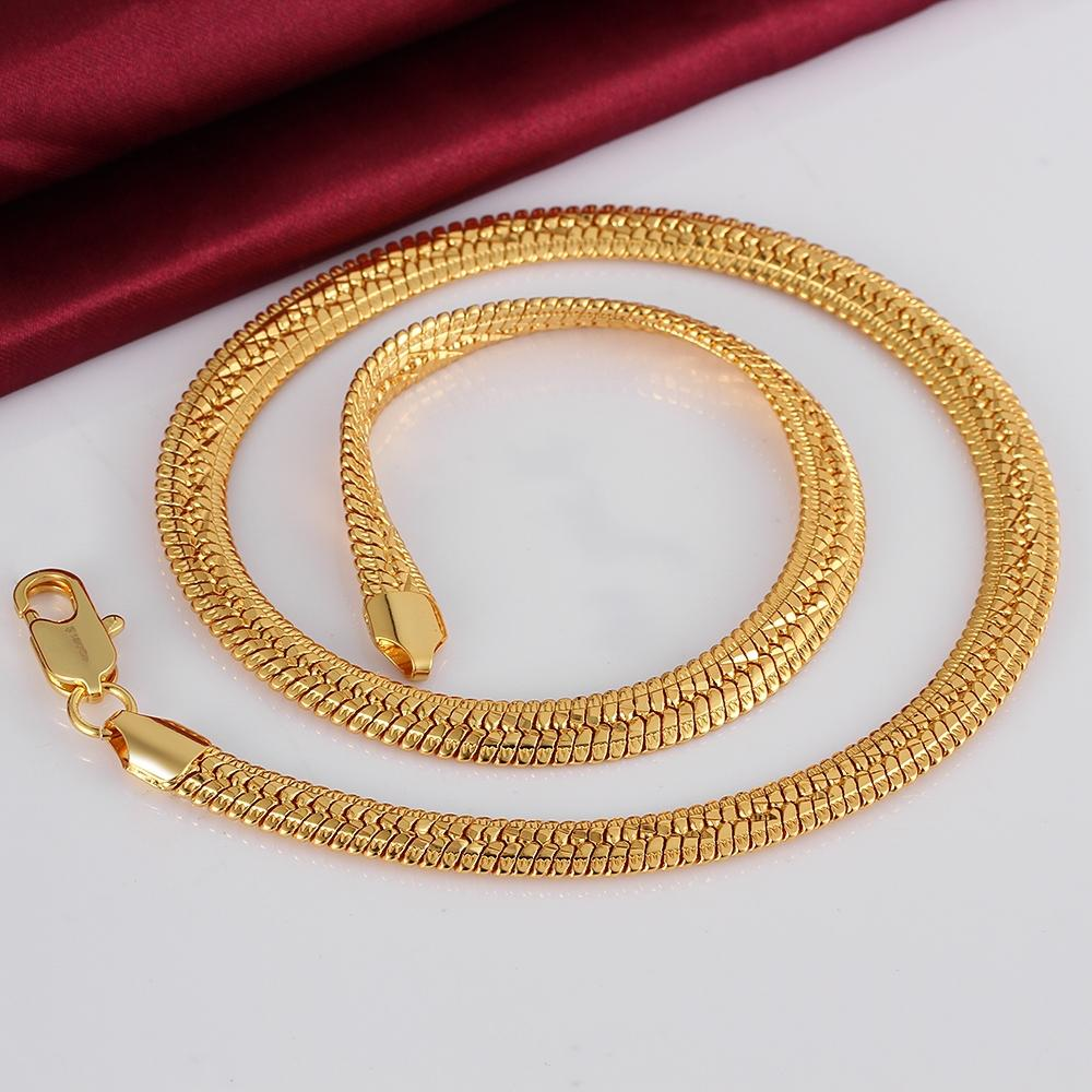 2018 Men\'S 10mm Cool Snake Chains 18k Gold Rose Golden Necklaces ...