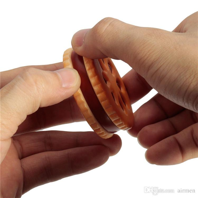 цинковый сплав печенье Печенье форма 2 часть табака травы Дробилка Дробилка прокатки машина кальян кальян трубы испаритель
