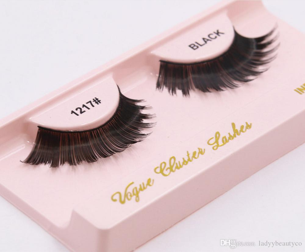 Many styles Faux human Pure Handmade Natural Long False Eyelashes Soft Fake Eye Lashes