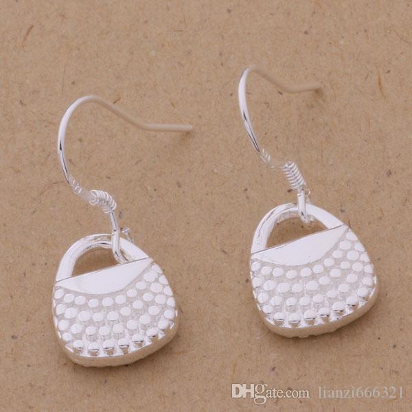 Мода производитель ювелирных изделий 40 шт много сумочка серьги стерлингового серебра 925 ювелирный завод мода блеск серьги