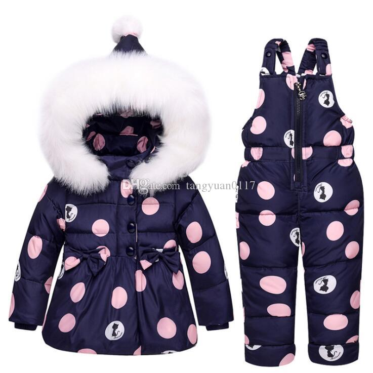 1a6b789645ca Kids Clothes Girls Down Coat Children Warm Toddler Snowsuit ...
