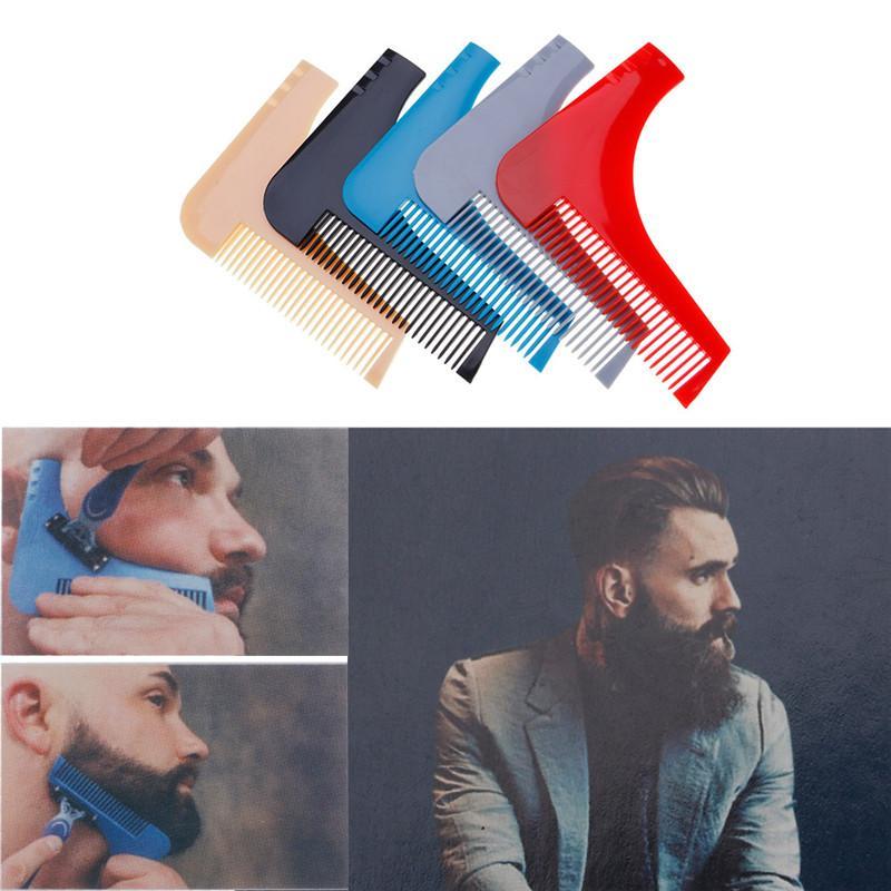الرجال جنتلمان الوجه شعر اللحية المشكل دليل قالب أمشاط التصميم اكسسوارات تريم تشكيل خطوط أداة التماثل