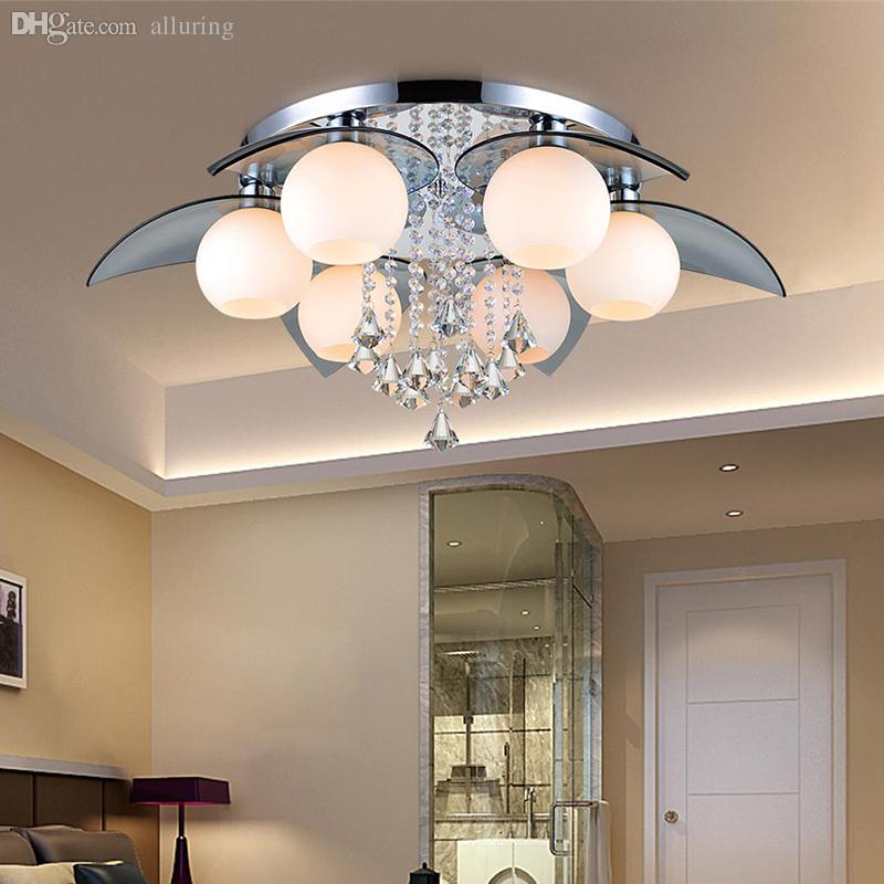 2017 Wholesale Modern Ceiling Lamp 25w Crystal Led Ceiling Lamp Living Room  Light Living Room Lights Modern Crystal Lamp Light Fixture From Alluring,  ...