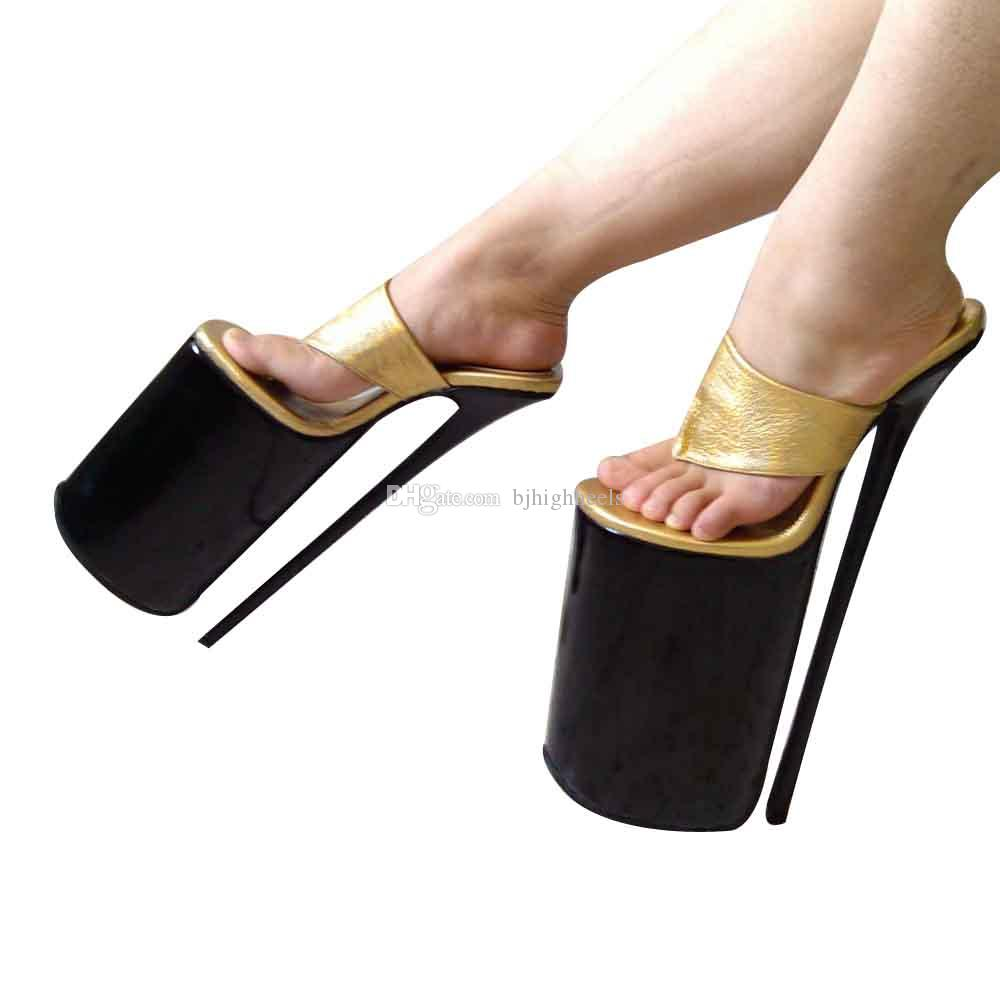 01ee7e3ad35 30CM Heel Height Sexy Genuine Leather Round Toe Stiletto Heel Sandals Party  Shoes US Size 5 14 NO.Y3008 Red Shoes Wedge Sandals From Bjhighheels