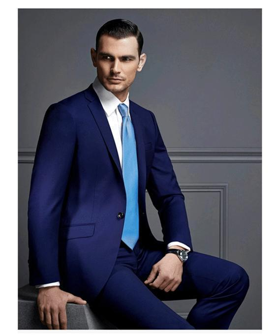 Welcohot Recommend Back Vent Blue Groom Tuxedos Notchedl Lapel ...