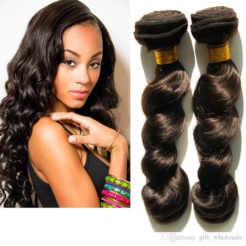 Brazilian Body Loose Wave Hair Weaves Best Quality Virgin Human Hair