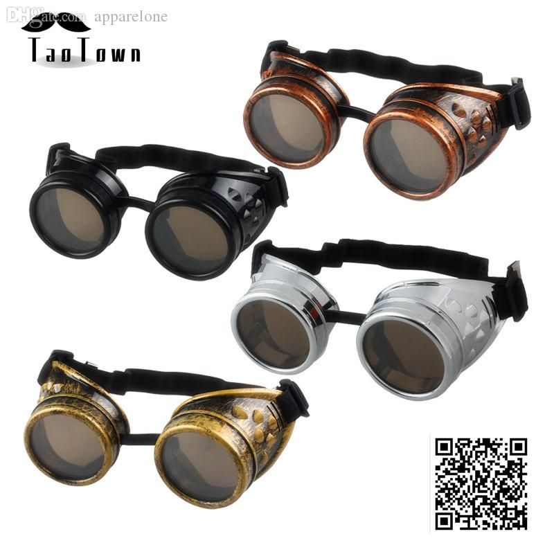 Men's Sunglasses 2018 New Arrival Vintage Style Steampunk Goggles Welding Punk Glasses Cosplay Freeshipping&wholesale Wholesale Brand Designer