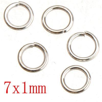 Sterling Silver Plated Skok Rings DIY Żelazo Metal Otwórz Round 1mm Grube Nowy Moda Hurtownie Wyniki biżuterii 5mm 7mm Wysyłka za darmo 500g