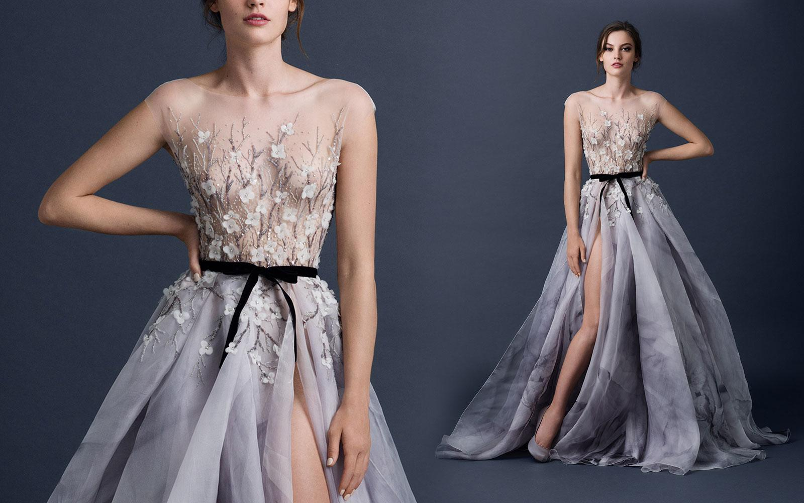 Paolo Sebastian 2016 Modest Prom Dresses Sheer Neck ...