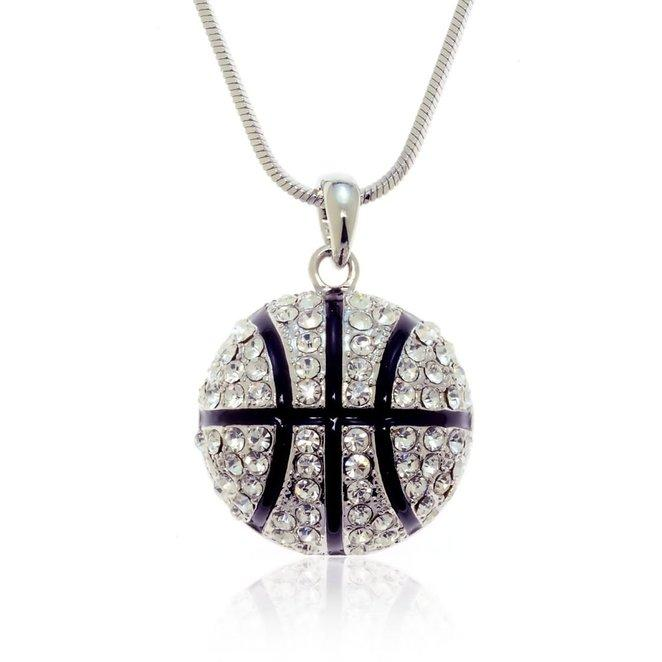 New arrival silver basketball pendant necklace for lady crystal new arrival silver basketball pendant necklace for lady crystal inlay stainless steel charms fashion women jewelry silver basketball pendant necklace mozeypictures Images