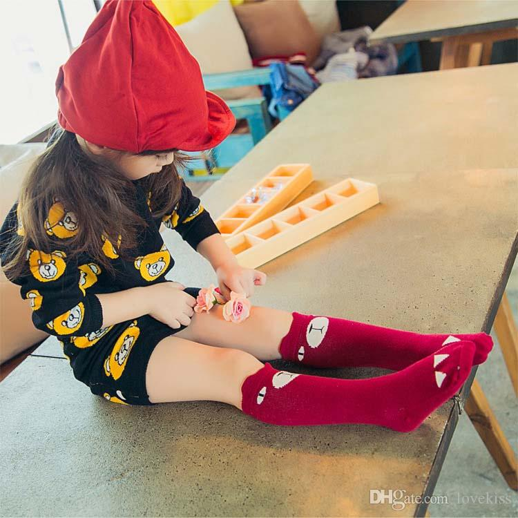 Calzini Abbigliamento bambini Abbigliamento infantile Bambino Coreano Bambino autunnale Uncinetto bambini Ragazzi Ragazze Knit Ginocchio alto C13467