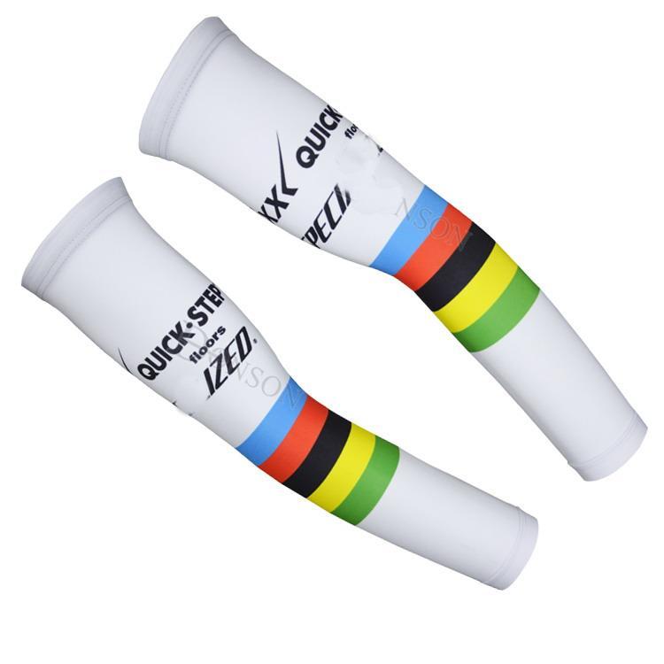 2015 ETIXX 빠른 단계 프로 팀 UCI 화이트 Q03 사이클링 ARM 워머 자전거 자간 사이즈 : S-XXL