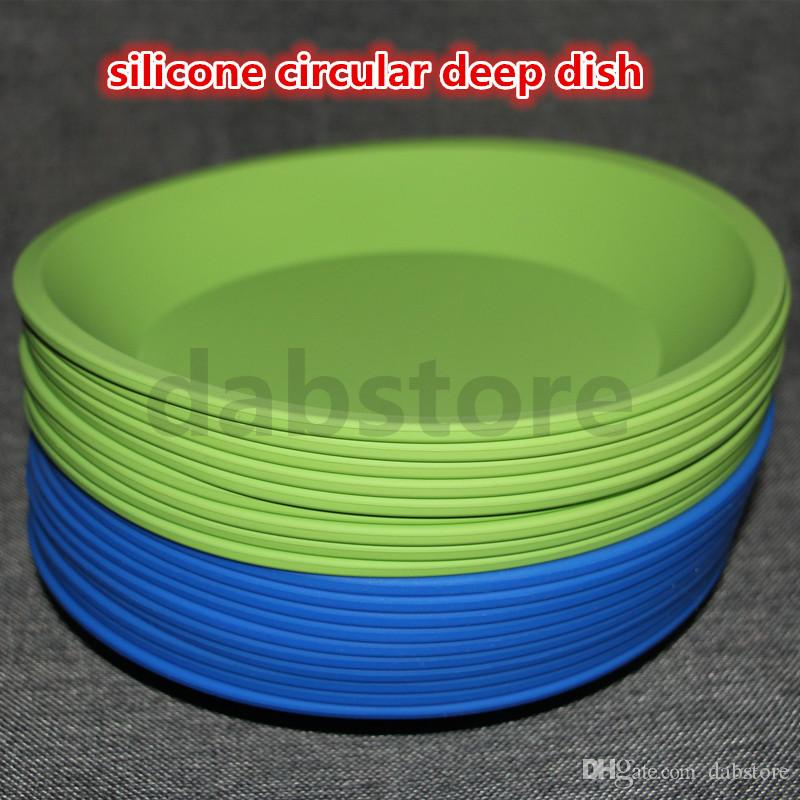 """hot DHL competitive price Deep Dish Round Pan 8"""" Non Stick Silicone Container Concentrate Oil BHO"""