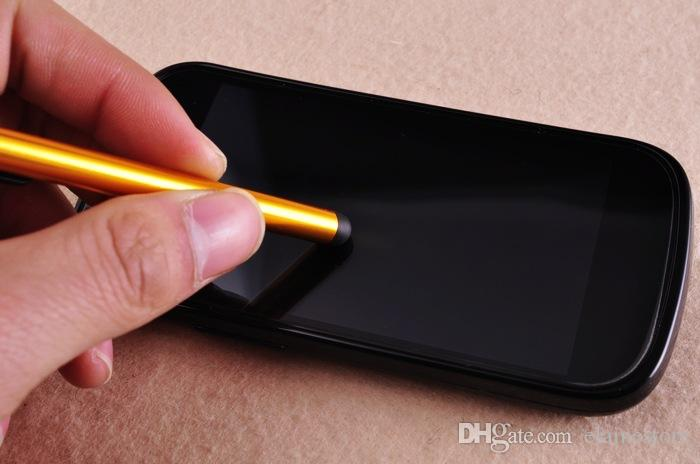 Stylus Kalem Kapasitif Ekran Çok hassas Dokunmatik Kalem İçin Iphone6 6Plus iPhone5 4 SamsungGalaxyS5 S4 Not4 Not 3 Ücretsiz Kargo