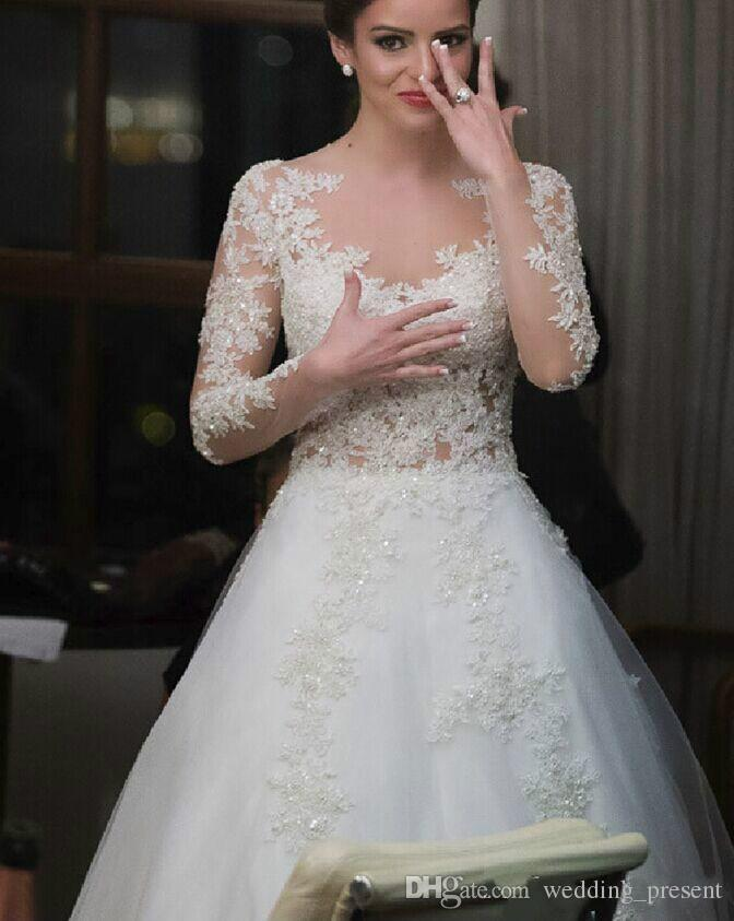 Elie Saab Sheath Wedding Dresses 2015 2016