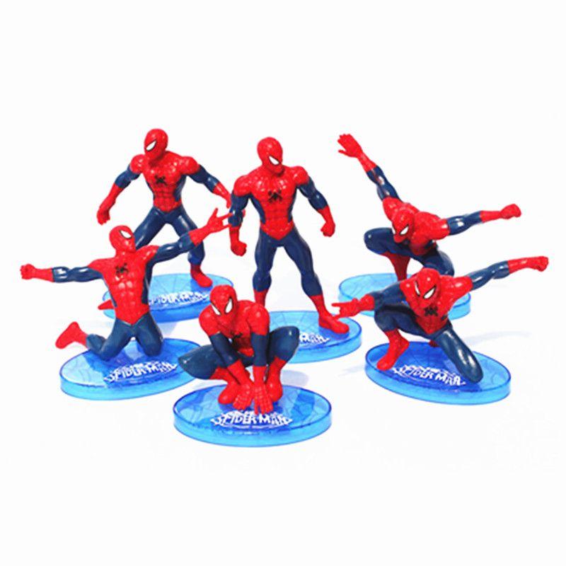 2017 Superheroes Spider Man Pvc Action Figure Toys