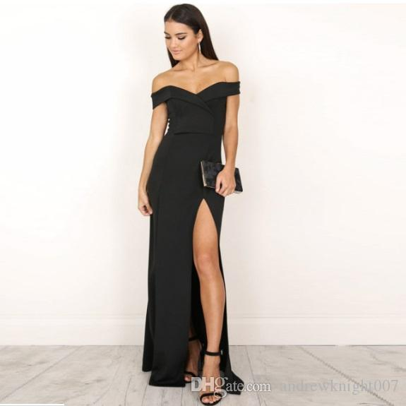 2019 Women Sexy Robe Cute Off Shoulder Sleeveless Sloid
