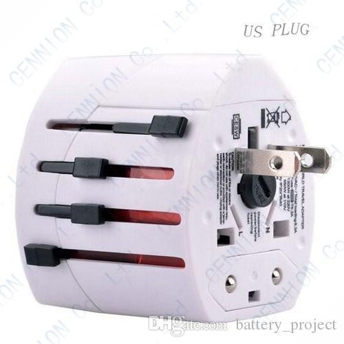 Универсальный международный во всем мире Multi путешествия подключите зарядное устройство адаптер 2 USB порт AU США Великобритания ЕС де конвертер все в одном 50шт белый черный