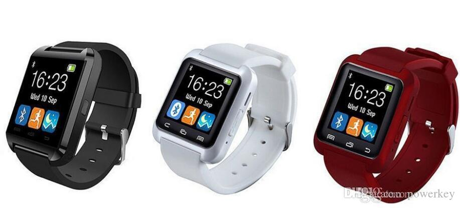 Luxury Newesr U8 Smart Watch Bluetooth Phone Mate Smartwatch Wrist for Android iOS iPhone Samsung
