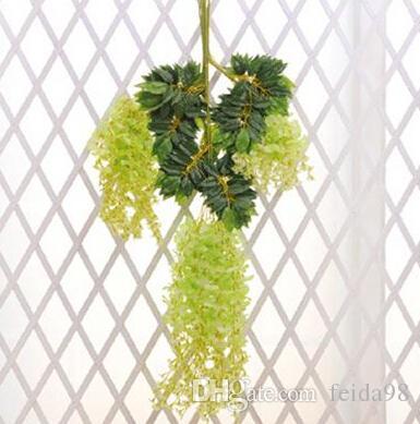 1.6 Mètre Longue Soie Artificielle Artificielle Fleur Wisteria Vigne Rattan Pour Les Centres De Mariage Décorations Bouquet Guirlande Accueil DHL gratuit