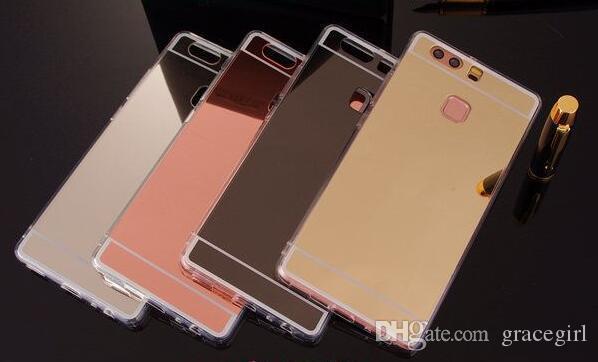 Mirror Electroplate Soft TPU Case For Huawei Mate 10 Lite Nova 2I Honor 9I Xiaomi 5X 6 Plus 5S Plus Redmi NOTE 3 4 4X 4A Bling Skin Cover