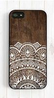 Imitation wood lace ethnic case for iPhone 4s 5s 5c 6 6s Plus ipod touch 4 5 6 Samsung Galaxy s2 s3 s4 s5 mini s6 edge plus Note 2 3 4 5