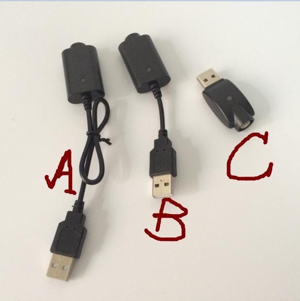 Atacado EGO carregador USB longo cabo curto carregador com IC 1053 proteção verde led vermelho para EGO ego-Q EVOD Torção 510 Rosca