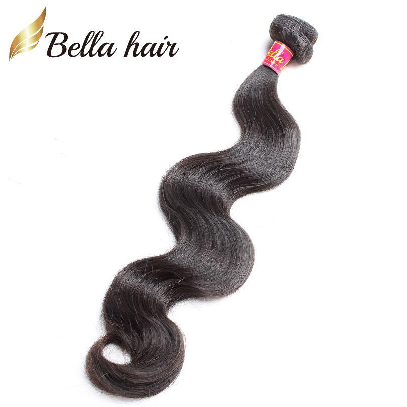 Cheap Body Wave Virgin Human Hair Bundles Indian European Peruvian Brazilian Malaysian Cambodian Double Weft Extensions Bellahair