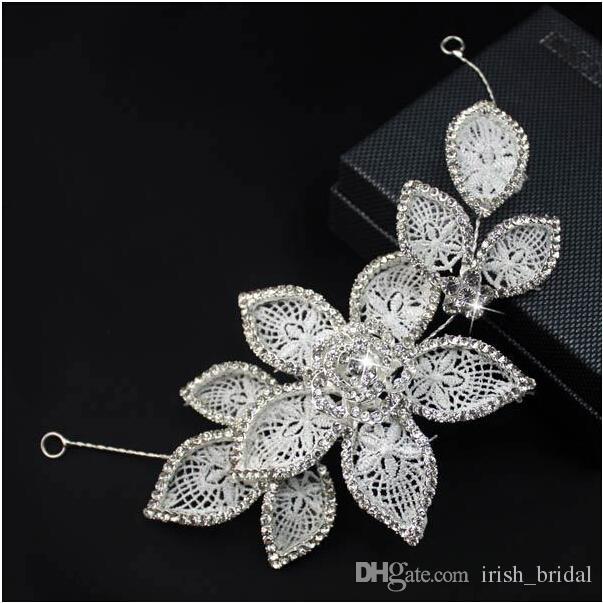 2015 Manual Hair Pearl Diamond High Quality Beautiful Rhinestone Faux Pearl Wedding Bridal Flora Tiaras Hair Accessory TS000057
