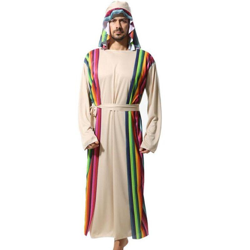 Acheter 2018 New Adultes Homme Arabe Guerrier Costume Saoudien Robe Moyen Orient Shepherd ...