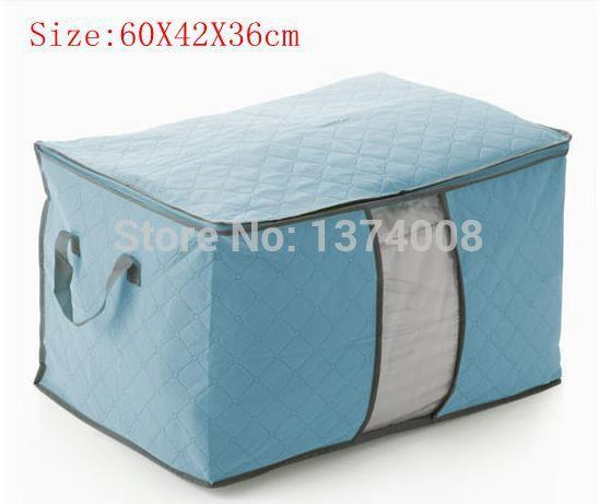 2018 2014 New Blue Bamboo Clothing Quilt Pouchs Finishing Boxs Type
