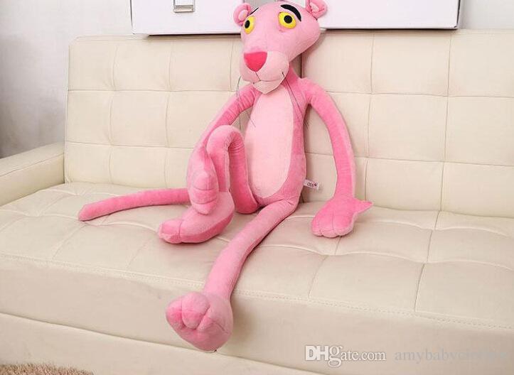 Juguetes Regalos Regalo para niños Lindo Travieso rosado Pantera Muñeco de peluche de juguete Decoración para el hogar 40 CM Venta al por mayor y envío de la gota