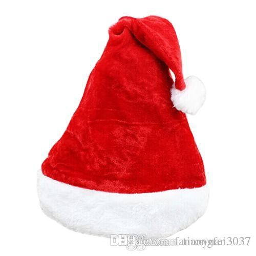fbfc7ed234 Father Christmas Hat Xmas Party Costume Santa Claus Adult Headgear Plush  Cap Red TY1635 Christmas Glass Ornament Christmas Hangings From  Fanrongfei3037