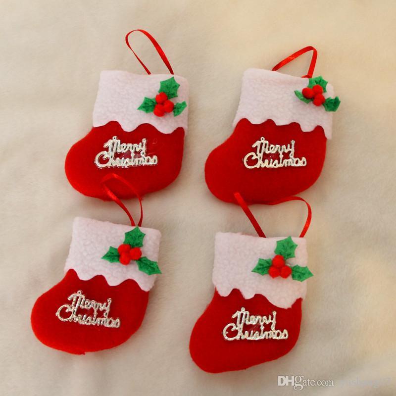 2017 new Lovely socks for Christmas decorations Christmas tree decorations for Christmas ornaments