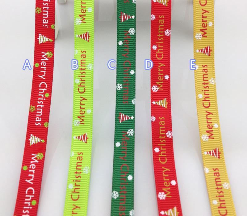 100Yards Christmas Grosgrain Ribbon Decor Edge Gift Wrap 9mm 1 Roll 100yds