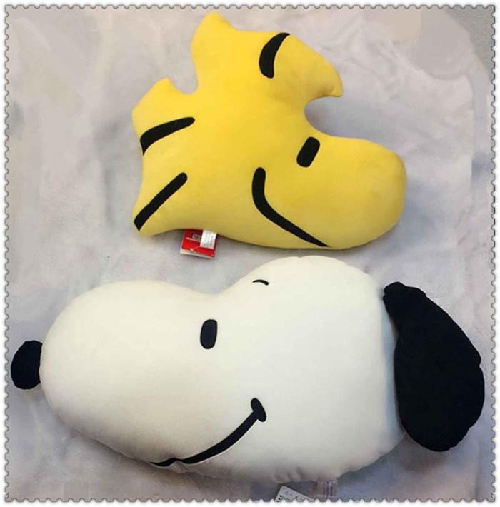2019 Peanuts Comics Hold Pillow Snoopy Plush Dolls And Little Yellow