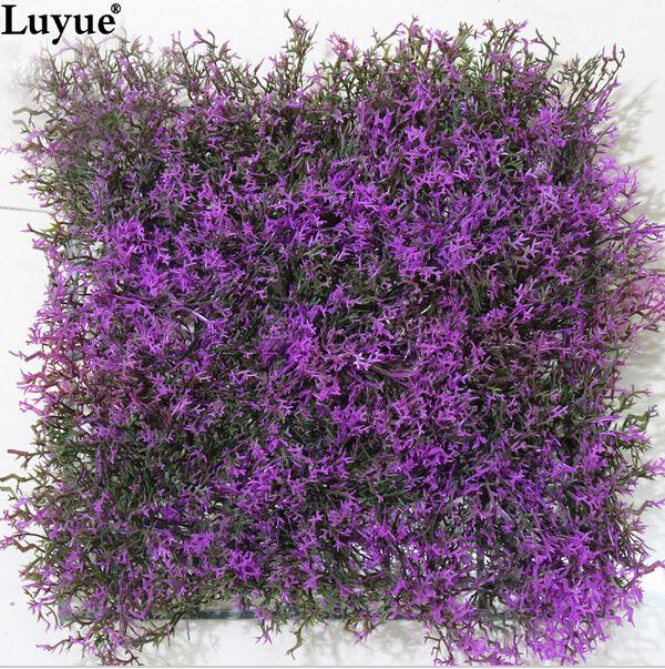 Outdoor Flowers For Sale Part - 35: Artificial Lavender Lawn Hedge Field Fencing 25cmX25cm Privacy Fence Outdoor  Plant Garden Hot Sale UV Protected Free Shipping