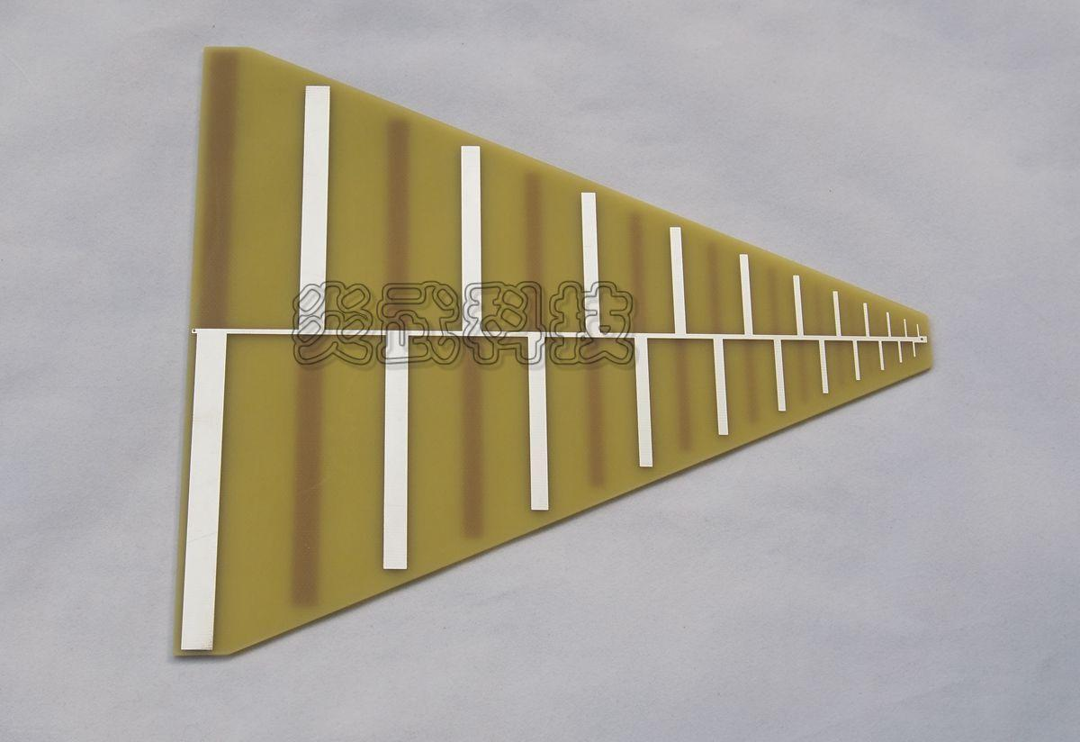 Log Periodic LPDA Antenna spans 400MHz to 3GHz DU400-3G