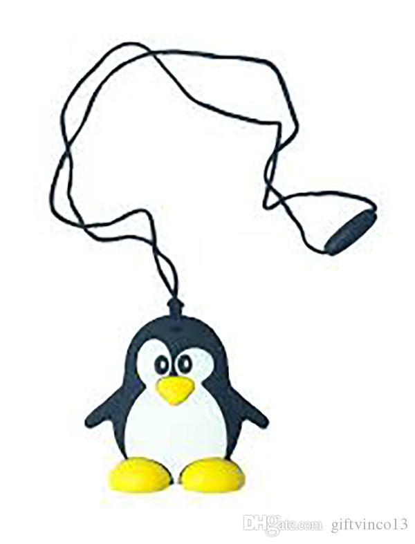 Silicone Teething Necklace Food Grade Silicone Penguin Chewable Pendant Baby Gift Teething Toys Nursing Sensory Necklace