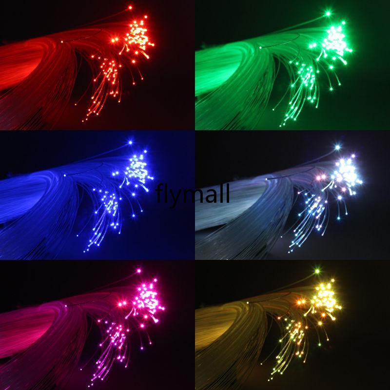 RGB colorido plástico LED Kit de techo de la estrella de fibra óptica Luz 0.75mm 2M + 16W RGB luces de fibra óptica del motor + 24key novedad Luz remoto